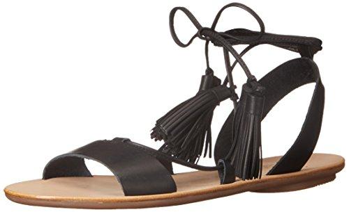 Loeffler Randall Damen Saffron-VACN Flache Sandale, schwarz/schwarz, 35.5 EU