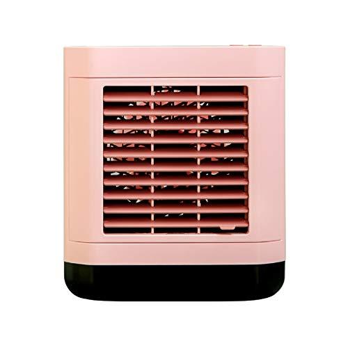 Mini aire acondicionado portátil, enfriador de aire, humidificador, ventilador 3 en 1, pequeño aire acondicionado con refrigeración de agua, para oficina y hogar