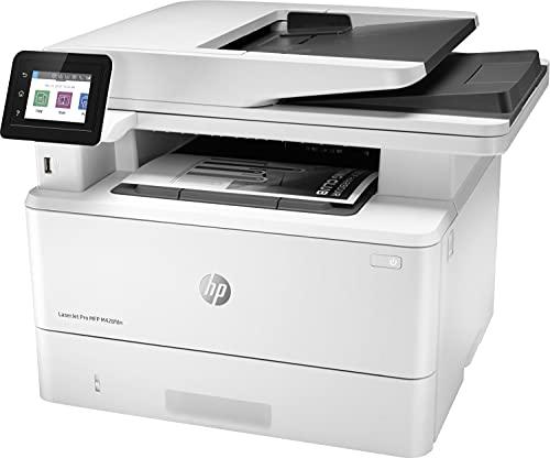 HP LaserJet Pro MFP M428fdn W1A29A, Impresora Láser Multifunción, Imprime, Escanea, Copia y Fax, Ethernet, USB 2.0, 1 Host USB, 1 Puerto USB, HP Smart App, Mopria, Pantalla Táctil a Color, Blanca