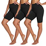 YOLIX 3 Pack Buttery Soft Biker Shorts for Women – 8' High Waisted Yoga Workout Athletic Sports Shorts