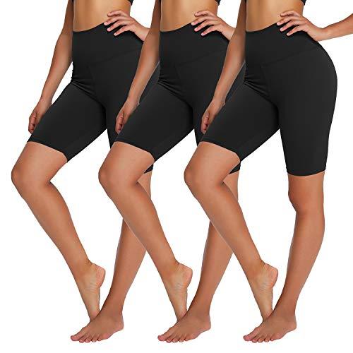 YOLIX 3 Pack Buttery Soft Biker Shorts for Women – 8' High...