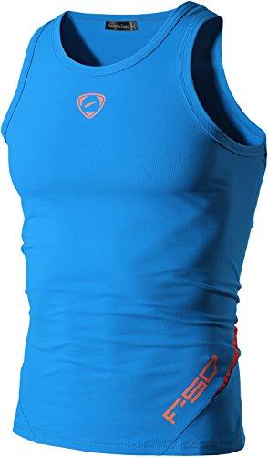 jeansian Herren Sportswear Quick Dry Sleeveless Sports Tank Tops LSL3306 LightBlue M