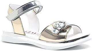 Gümüş Rengi Yazlık Kız Çocuk Sandalet