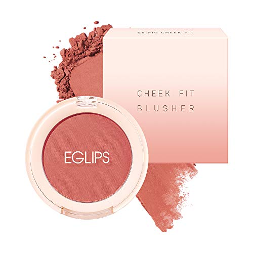 Eglips Cheek Fit Blusher, Mellow Fig Color (06 Fig Cheek Fit) 0.14oz