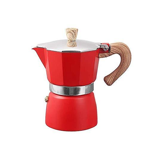 LRHD De aluminio del café express de la máquina Estufa Filtro de cafetera moka Pot quemadores Cafetera exprés - Café Gator, Rapid superior de la estufa de café Brewer - 150ml / 3 Copa Brewing Capacida
