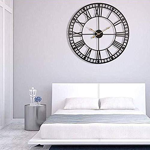 H-ClocksRömische runde Uhr, handgemachte große Wanduhr Metallwand Kunst hängen dekorative Wand Skulptur Dekor,80cm