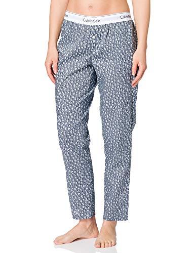 Calvin Klein Sleep Pant Pantaln de Pijama, Cheetah Shadow_Peltre, L para Mujer
