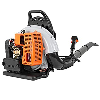 63CC No-Pull Backpack Gas Powered Leaf Blower from NJ  - 2-Stroke 3Hp High Performance Gasoline Blower for Lawn Care with Vacuum Capability