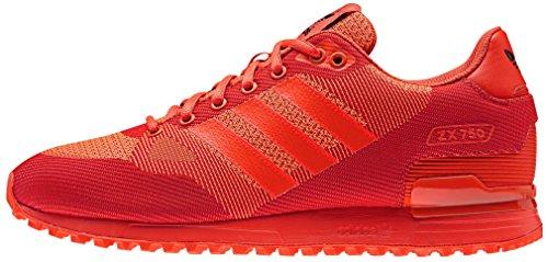 adidas ZX 750 WV, Zapatillas de Deporte Hombre, Rojo (Rojsol/Rojsol/Seroso), 42