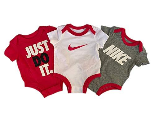 Nike Baby-Set 3 Bodys Neu Girls´s (3 Monate 56cm - 62cm)