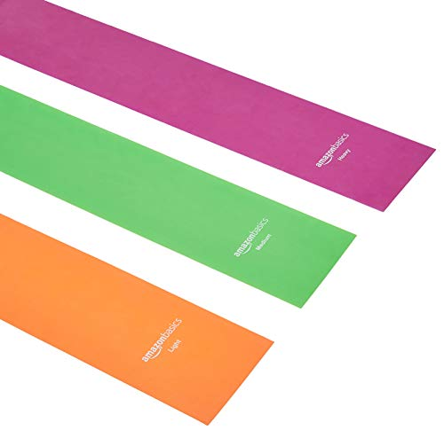 Amazon Basics TPE Resistance Band - 1500mm, 3-Piece Set