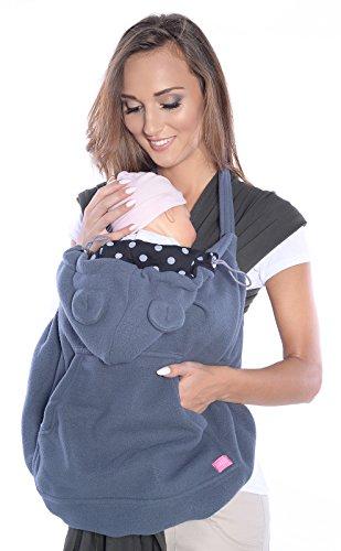 Mija - Tragecover, Universal Bezug für Baby Carrier/Tragetücher/Cape 4023 (Graphite)