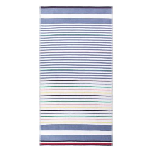 Tommy Hilfiger Bleach Denim - Toalla de playa (90 x 180 cm), color azul