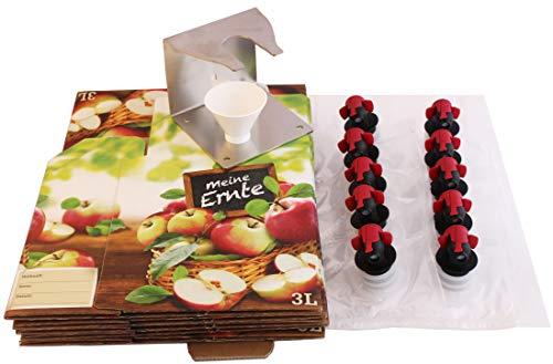 Starterset: 3 Liter Bag-in-Box Beutel, Kartons, Abfüllhalter und Trichter