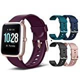 MCNNADI Smart Watch Fitness Tracker [with 4 Extra Bands/Straps] Heart Rate/Sleep Monitor & Stress Control, Activity Tracker with 1.3' Touch Screen, Waterproof, Pedometer, Step Counter for Women Men