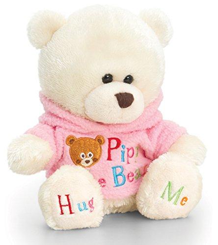 Lashuma Orsacchiotto di peluche Pipp The Bear con Pulli Rosa Peluche Orsacchiotto con Abbigliamento 14 cm