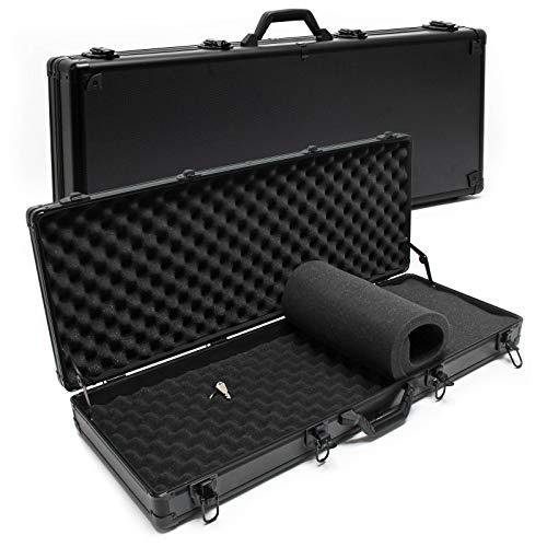 Wiltec Waffenkoffer 840x345x117mm schwarz mit Schaumstoffpolsterung & 4-Schlosssicherung