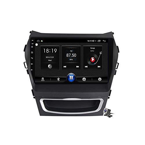 Gokiu Android 10 GPS Autoradio Navigazione Stereo per Hyundai IX45 Santa Fe 2013-2017, con 9'' QLED Screen Supporto Sistemi Video/Chiamate Bluetooth/FM AM RDS DSP SWC/Carplay Android Auto,7731