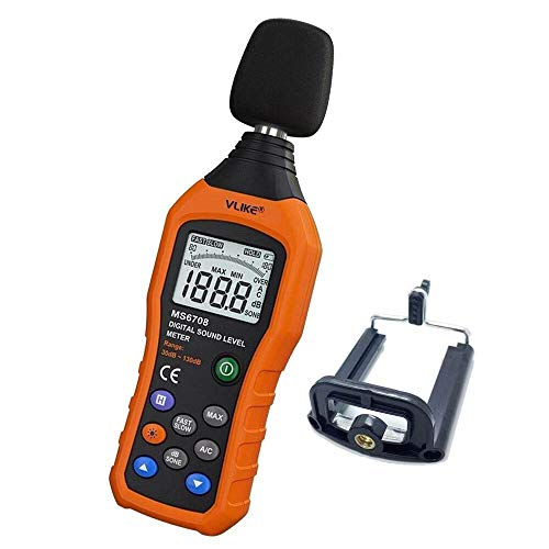 Decibel Meter,VLIKE LCD Digital Audio Noise Level Meter Sound Level Meter...