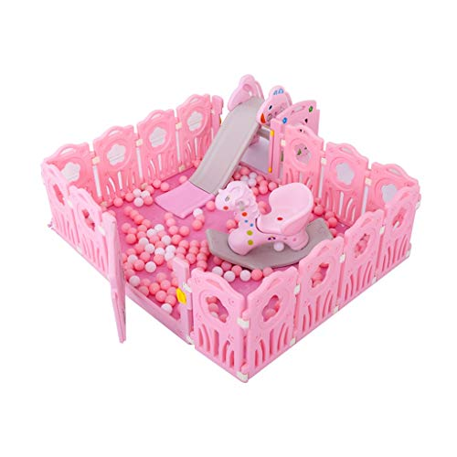 LIUFS-Clôture Jeu de clôture pour Enfants Centre de Divertissement de sécurité intérieure et extérieure Princesse Rose (Taille : Package A)
