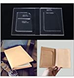 1 Set Handmade DIY Passport holder wallet Acrylic Template Leather Pattern Leathercraft Template Tools 11 * 15.5 * 1cm
