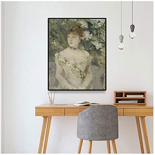 Dubdubdcanvas Ölgemälde, junges Mädchen im Ballkleid, Kunstdruck, Poster, Dekoration auf Leinwand, 61 x 58 cm, ohne Rahmen