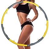 COWINN Hula Hoop Reifen Erwachsene, Hula Hoop Reifen, Fitness Hula Hoop Fitness Hula zur Gewichtsreduktion, 8 Segmente Abnehmbarer Hoola Hoop Reifen Geeignet Für Fitness/Sport