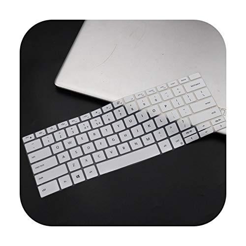 Dell XPS 17 9700 2020 / XPS 13 9300 7390 2020 / XPS 15 9500 2020 / Funda protectora de silicona para teclado de ordenador portátil, color blanco