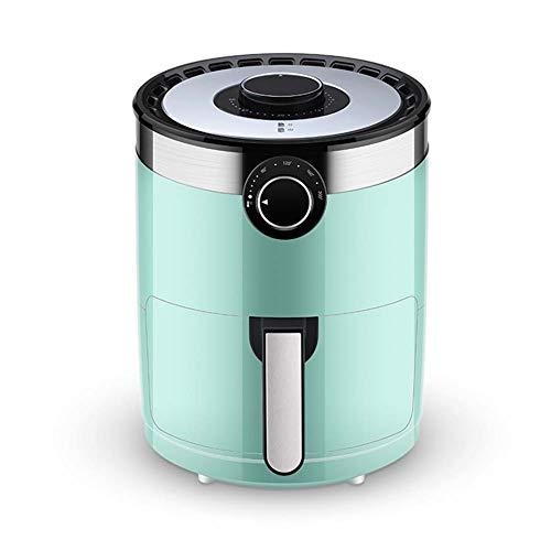 Air fryer, Freidora sin aceite Tecnología de circulación de aire Capacidad de proporción dorada de 3.5L Recubrimiento antiadherente Temperatura / tiempo ajustable 360 ° Calefacción giratoria,Verde