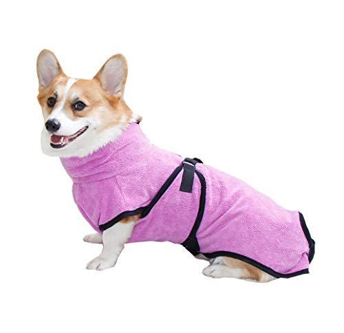 BbearT® Hundebademantel aus Mikrofaser für Haustiere, super saugfähig, schnell trocknend, für die Reinigung von Katzen, kleinen Hunden, mittelgroßen Hunden, großen Hunden
