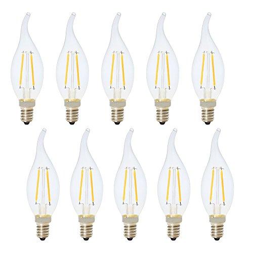 E14 Ampoule Filament LED 2W Ampoule Edison Retro Blanc Chaud 2700K LED Edison 200LM Économie d'énergie Ampoule Vintage AC220V, Lot de 10