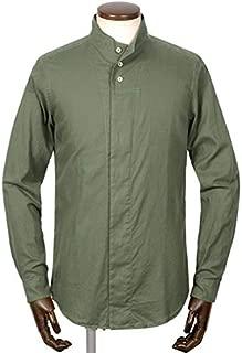 バグッタ BAGUTTA / 【国内正規品】 19-20AW!製品洗いコットンライトフランネルハイネックシャツ「NECK」 (セージグリーン) メンズ
