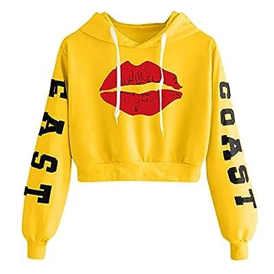 Cropped Sweatshirt Kapuze Damen