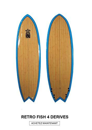 HONU - Tabla de Surf Fish 6'4, diseño Retro