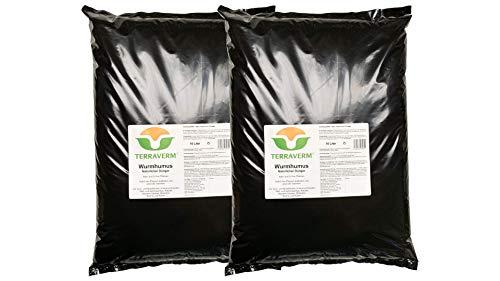 20 Liter TerraVerm Wurmhumus -Pflanzenerde für Balkon und Garten -Dünger für Hochbeet, Kräuter, Gemüse, Blumentopf - chemiefrei - biologisch, organisch, natürlich