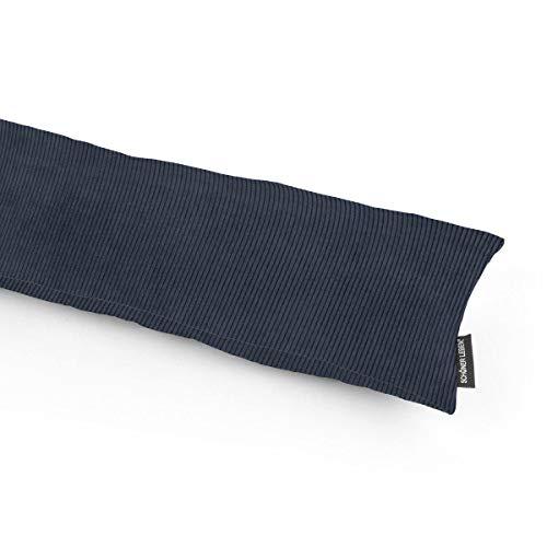 SCHÖNER LEBEN. Zugluftstopper Cord Corduroy graublau Verschiedene Größen, Auswahl:130cm Länge