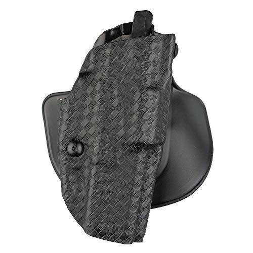 Safariland 6378, ALS Concealment Paddle and Belt Loop Combo Holster, Fits: Glock 17, 22, 31, Black - STX Basket Weave, Right Hand, Model: 6378-83-481