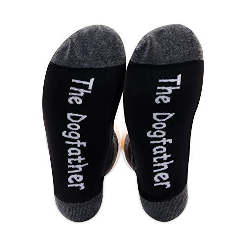 PXTIDY Mens The Dogfather Socks Dog Father Dad Pet Owner Rescue Gift Best...