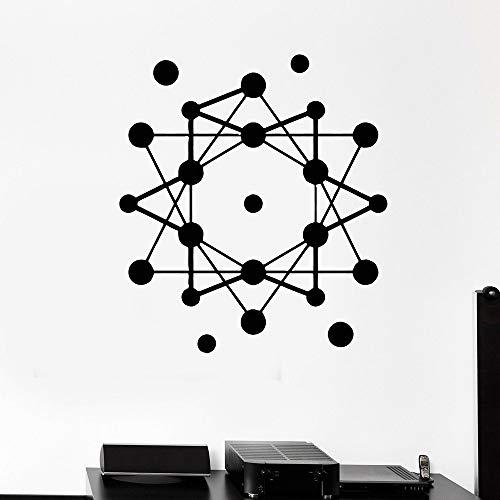 Atomic Science Wandaufkleber Schule Geometrie modernen Stil Vinyl Wandtattoo Zitat Heimtextilien 37 * 42cm