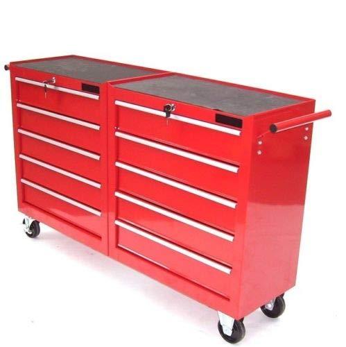 Werkzeugwagen XXL mit 10 Schubladen Werkstattwagen Rollwagen Werkzeug Schrank