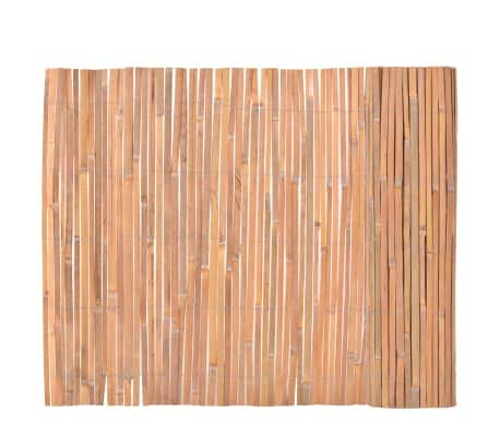 Dioche Bambuszaun 100×400 cm Sichtschutz Matten Windschutzmatten Balkon Garten Bambusrohr Zaun mit geschlossenen Rohren