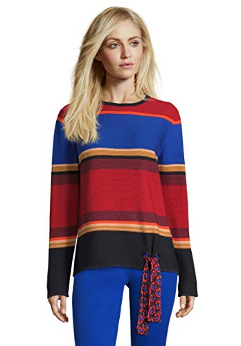 Betty Barclay 6601/0401 Pullover, Multicolore (Red/Blue 4880), 52 Donna