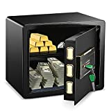 Safe Box Cabinet Safes ADIMO Model 35 Reinforced Alloy Steel Intelligent Alarm System Digital Programmable Keypad 1.23 Cubic Feet Cabinet Safe for Money Jewelry Document and Key, Safe Box for Home, Hotel, Company,Built-In Wardrobe