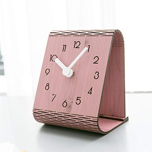 SGZBY Wecker Modernen Minimalistischen Desktop-Uhr Desktop-Dekoration Tischuhr Schlafzimmer Stumm Pendeluhr Startseite Wanduhr