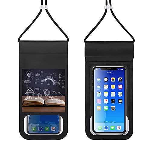 Bolsa impermeable para teléfono móvil, libro abierto con paisaje dibujado a mano, bolsa seca para natación, barco, pesca, esquí, rafting, compatible con todos los teléfonos de debajo de 6.5 pulgadas