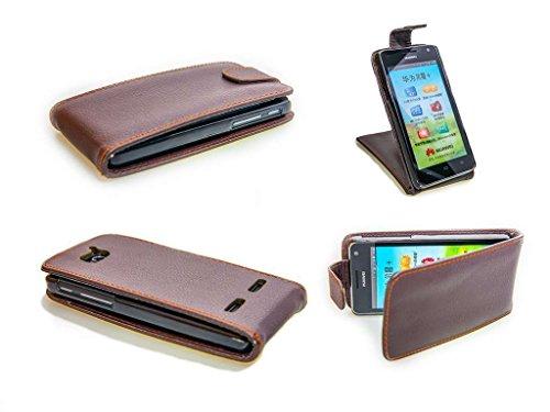 caseroxx Flip Cover für Huawei Ascend G610, Tasche (Flip Cover in braun)