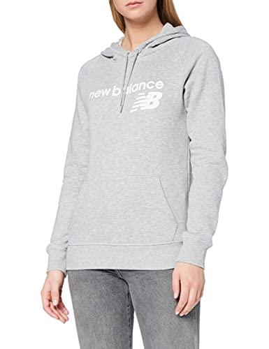 New Balance Sudadera con capucha para mujer Nb Classic Core Fleece, Camiseta, WT03810, Gris atlético, XS