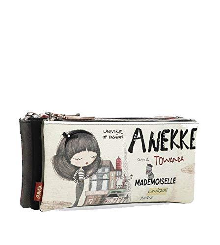 Estuche triple Anekke Couture (21x8x10 cm)