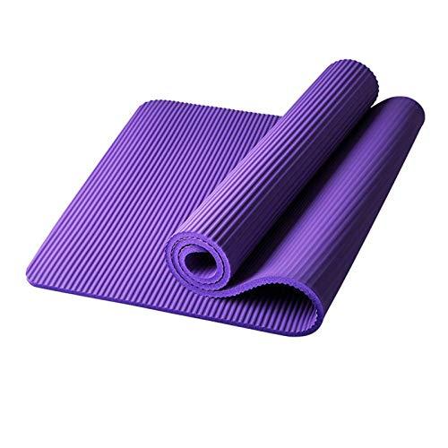 Esterilla yoga Yuan Ou Alfombrilla de fitness agrandada de 185 cm, esterilla de yoga para hombres, esterilla de ejercicio para gimnasio, alargar antideslizante para principiantes, 185x61x1cm púrpura 2