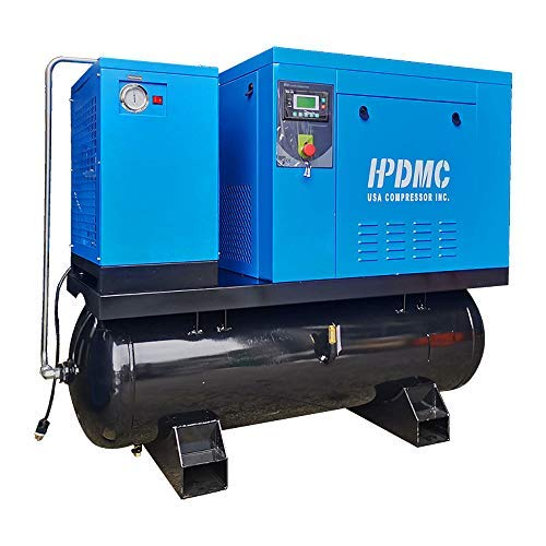 HPDMC ASME Rotary Screw Air Compressor With Tank &...